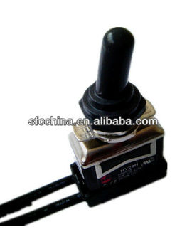"UL approved Toggle Switch with waterproof boot and 12"" wire"