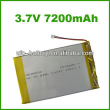 3.7V 7200mAh High capacity li-polymer rechargeable battery
