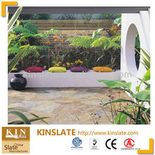 Kinslate Quarry and Factory Supply Hot Products Multicolor Natural Rusty Slate Paving Tiles Outdoor Stone Floor Tiles