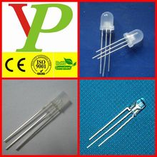 3-pin square/round 5mm 8mm diffused bi colour led