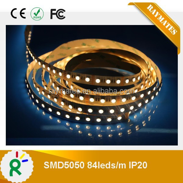 High quality DC12V 5050 4colors in 1 LED rgbw led strip 84LED/M with ce rohs