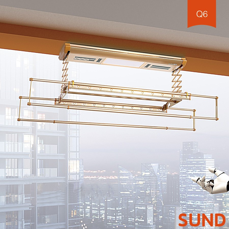 outdoor automatic ceiling mounted aluminium clothes drying rack