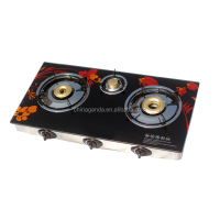 LPG Auto Ignition Tempered Glass Top Gas Stove Fighting Model for India and Nepal Market