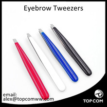 Professional Eyebrow Tweezers, Slanted, Hair Removal Tweezers Slant Tip