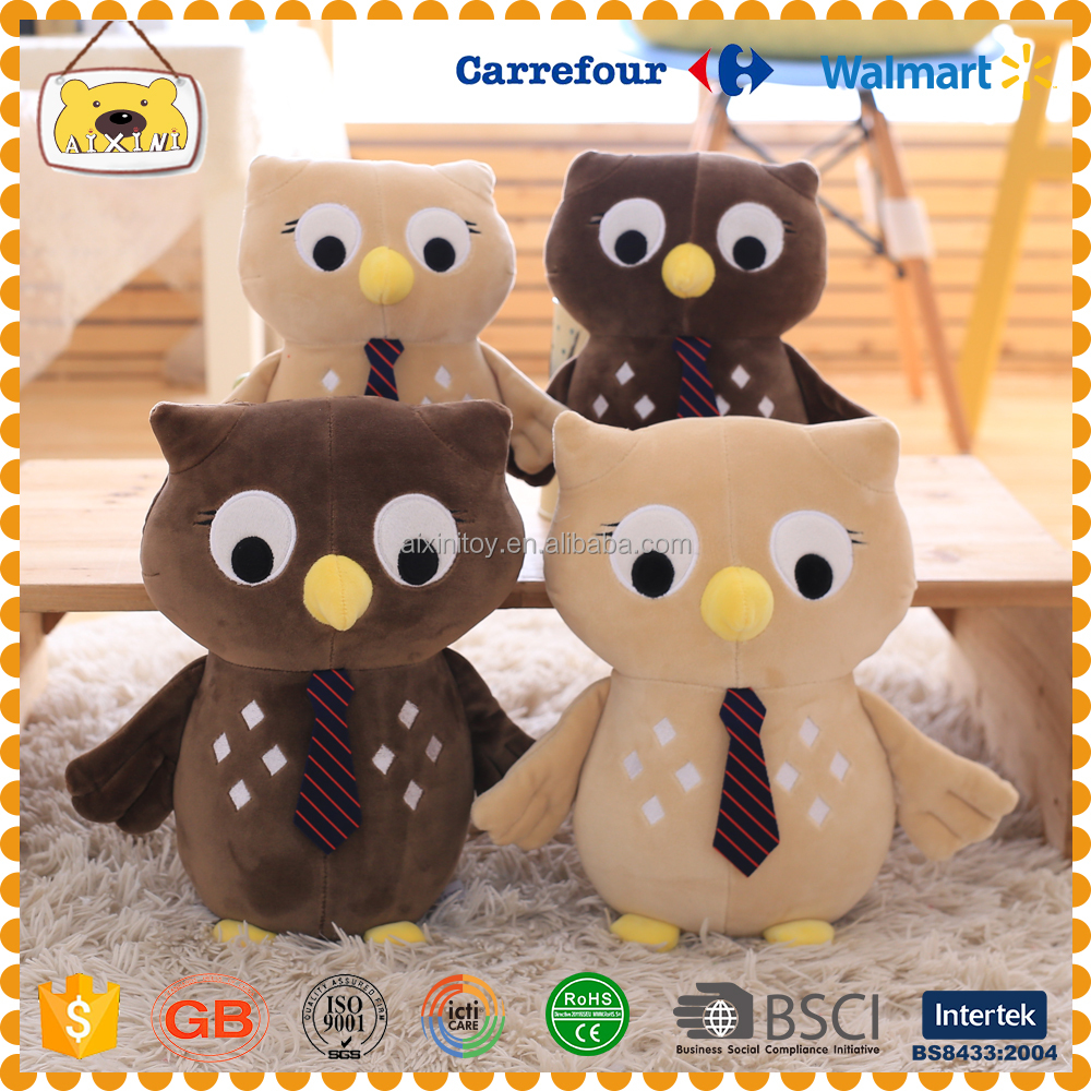 Customised plush stuffed birds flying animals night owl life like owl