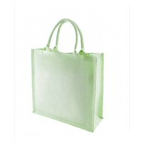 8oz laminated cotton bag with gusset and short cotton cord handles