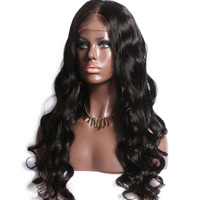 Cheap unprocessed brazilian top silk base full lace human hair wig