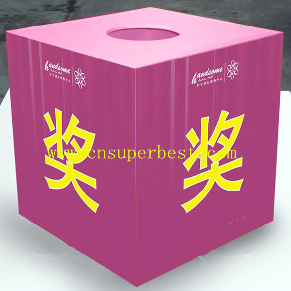 300*300*300mm small square acrylic colored lottery box