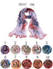poly georgette fabric instant hijab scarf HD247 596 shawl and scarves supplier