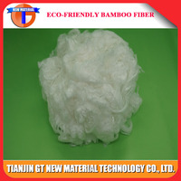 for nonwoven application 5 Denier lower price raw white bamboo fiber