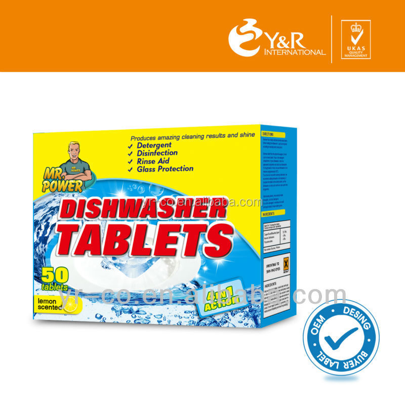 Detergent Raw Materials Usage Dishwashing tablets Tabs Dish washing