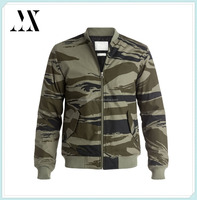 Mens Allover Camo Printed 100% Cotton Bomber Jacket , Classic Style Bomber Jacket For Men 2015