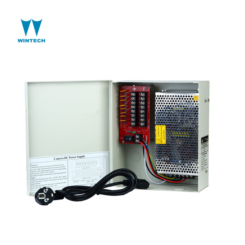 For IR Cameras 12VDC 16ch High 30 Amps CCTV Power Supply Distribution Box