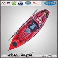 Best quality sit on top fishing kayak plastic single sit on top kayak sea fishing boats for sale