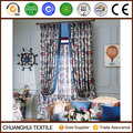 100% polyester Mediterranean style printed ready made curtain