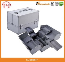 Classical design Aluminum Cosmetic case with trays/Aluminum Makeup box/Beauty train case