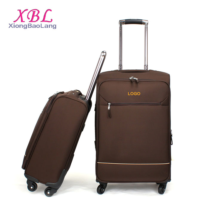 XBL Brown Business Suitcase Oxford Trolley