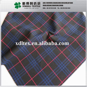 Soft texture 10%Wool,90% Synthetic big check design fabric manufacturers