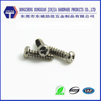 m2.3x8 cross recess pan phillips head thread forming toy screw