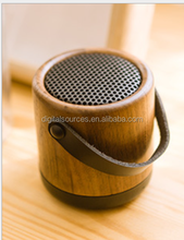 wood bluetooth speaker portable handsfree hifi subwoofer with microphone