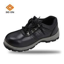 Chinese factory genuine leather summer safety shoes with steel toe cap