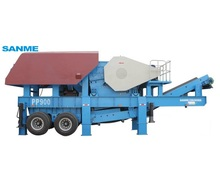 2018 new style fine crushing or sand making operations mobile concrete crusher