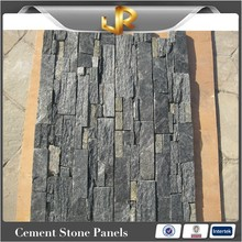 Black quartz fire resistant cultured stone panel