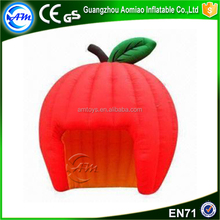 Red apple shape large inflatable tent roof top tent