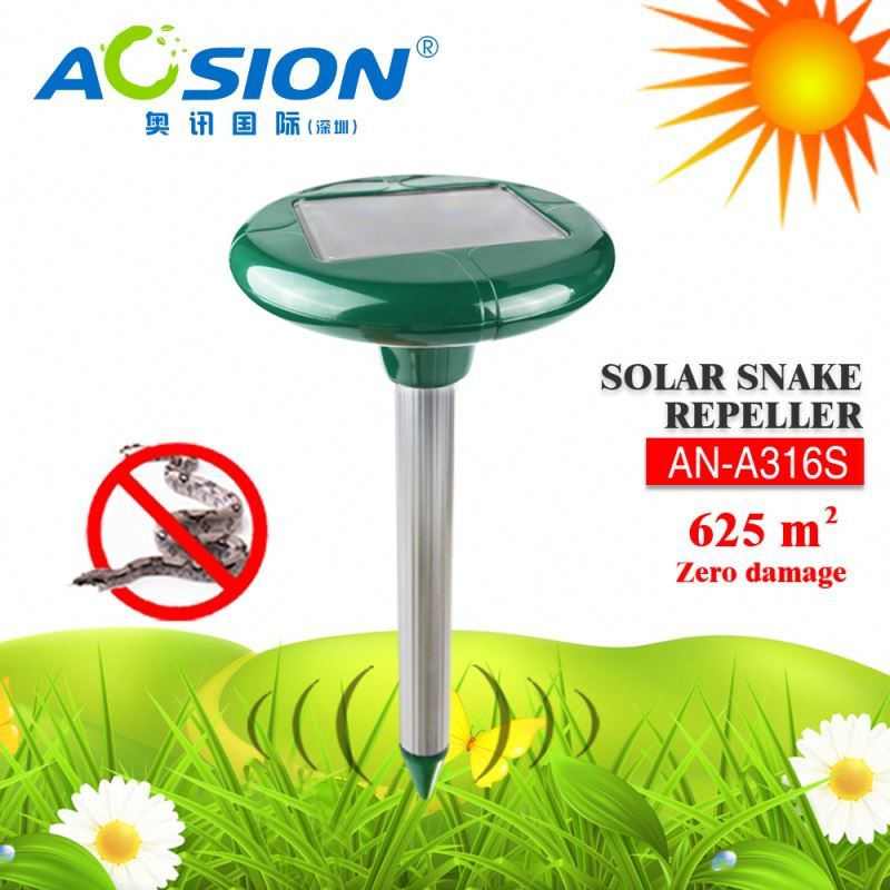 Aosion Solar powered sonic + vibrate 625 sq.m protection farm tools electronic snake repeller