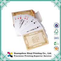 China customized promotional standard size playing card sets wholesale