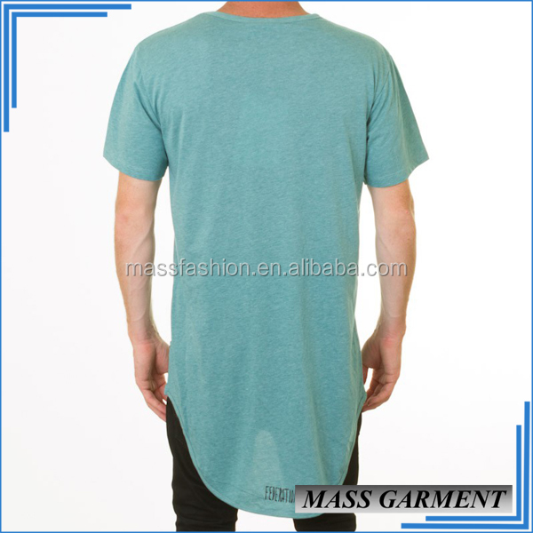 New Look Mass Fashion Hip Hop Mens Fishtail Long Tail T Shirt