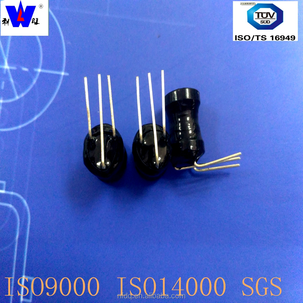 dr 9*12 ferrite core buzzer inductor with 3 pins