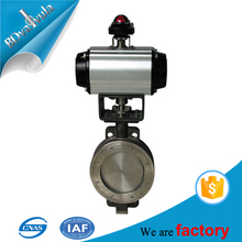 ductile iron flange type pneumatic butterfly valve