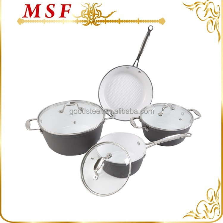 high level quality forged aluminum ceramic coating cookware with precision casting handles and knobs MSF-6099