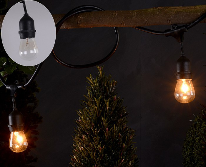 S14 Incandescent bulb UL CSA CE string lights outdoor