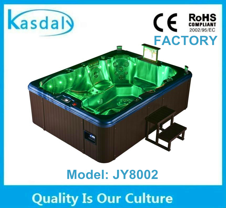 wholesale luxury outdoor hydro massage antique tin bathtub tub with tv