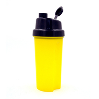 Unique lid protein shaker water bottle with filter,Plastic powder shaker cup