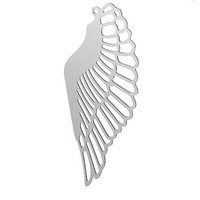 Yiwu Aceon Wholesale Stainless steel laser cut angel wing jewelry tag charm