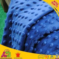2016 SGS checked healthy warp knitting 3mm bubble embossed velboa fabric for baby