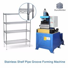 Shelving post rolling groove forming machine