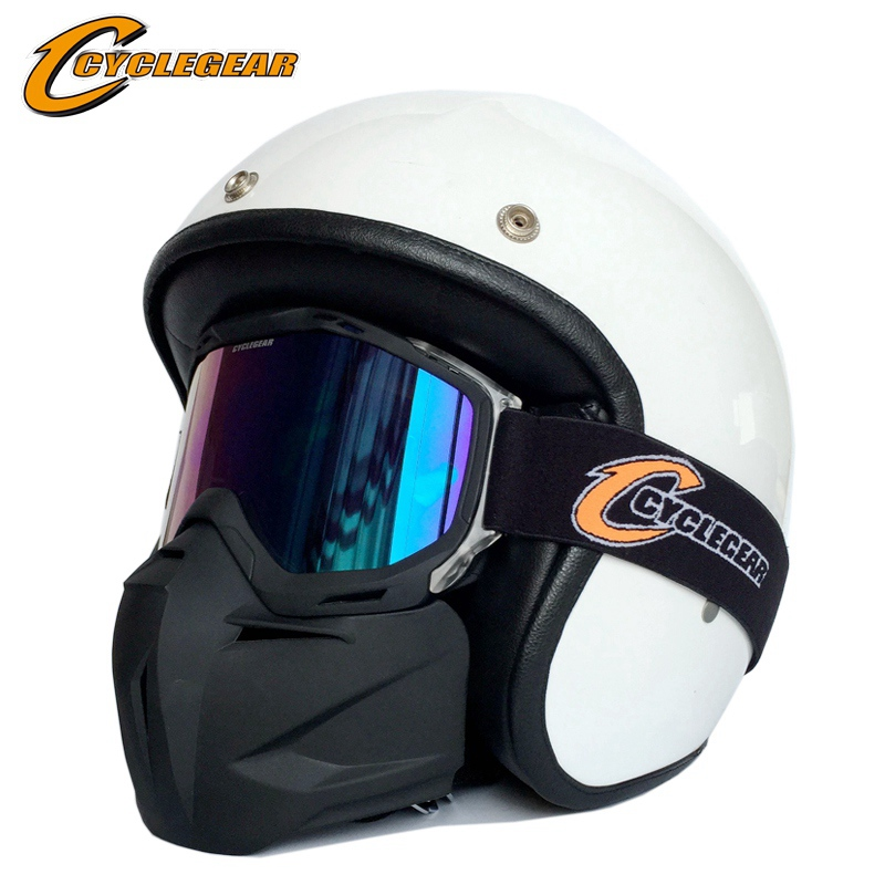 Cyclegear Dual Use Motorcycle Mask Goggle Cycling Motocross Glasses For Vintage Helmet CG02