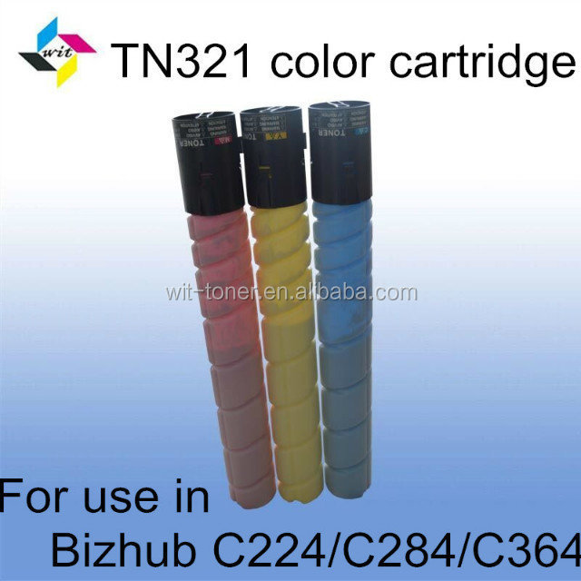 Compatible color toner cartridge for Konica Minolta Bizhub C364 TN321