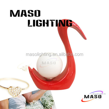 MASO Art Swan Wedding Bed Lamp MS-T2006 E27 Light Source LED Bulb durable Usage