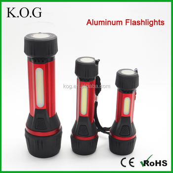 Rubber CRE COB Led Working Flashlight, Flashlight Set,Aluminum Magnetic Flashlight