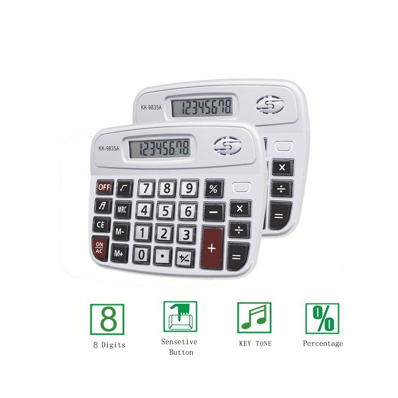 Promotional Desk 8 Digit Electronic Cartoon Office Calculator