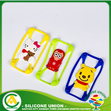 Embossed silicone animal phone case for custom