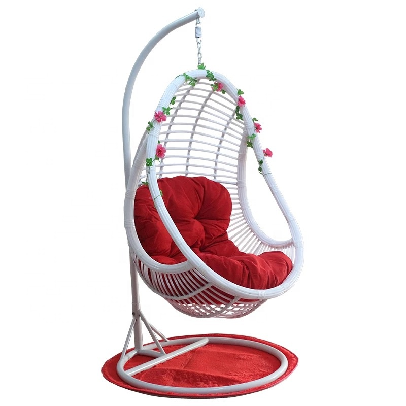 rattan hanging chair white black brown <strong>D014</strong>