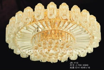 Suspended Round Led Crystal Ceiling Light