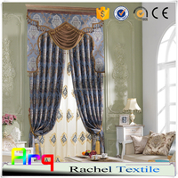 New elegant jacquard living/bedroom room curtain/sofa/cushion fabric for classic style