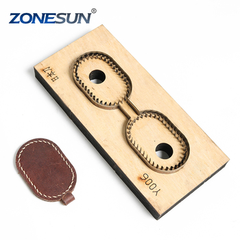 ZONESUN Y006 Customized leather cutting die shape key ring fob holder punch PVC/EVA sheet cutter mold DIY laser knife die